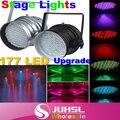 Обновленная версия! 177 LED RGB Света 4 Канал PAR64 DMX512 Освещения Лазерный Проектор Этап Света Лазерный DJ Партии Дискотека, вниз свет