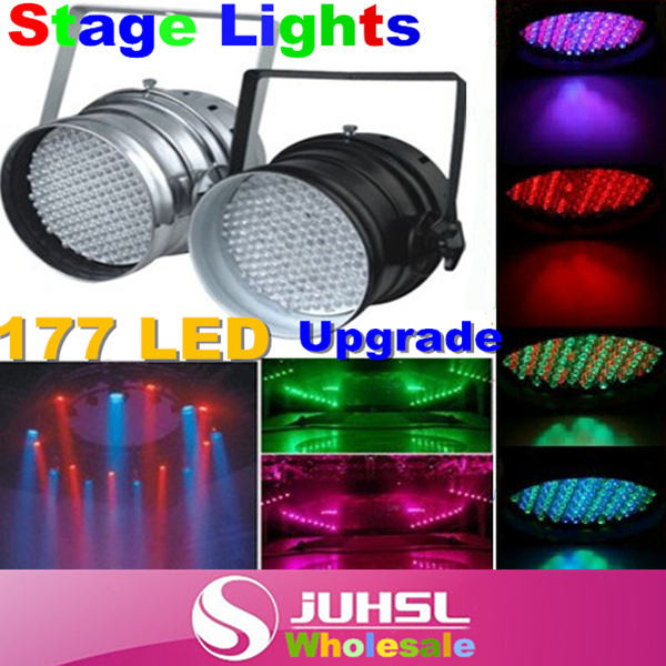 ФОТО Updated version!177 LED RGB Light 4 Channel PAR64 DMX512 Lighting Laser Projector Stage Light Laser DJ Party Disco,Down light