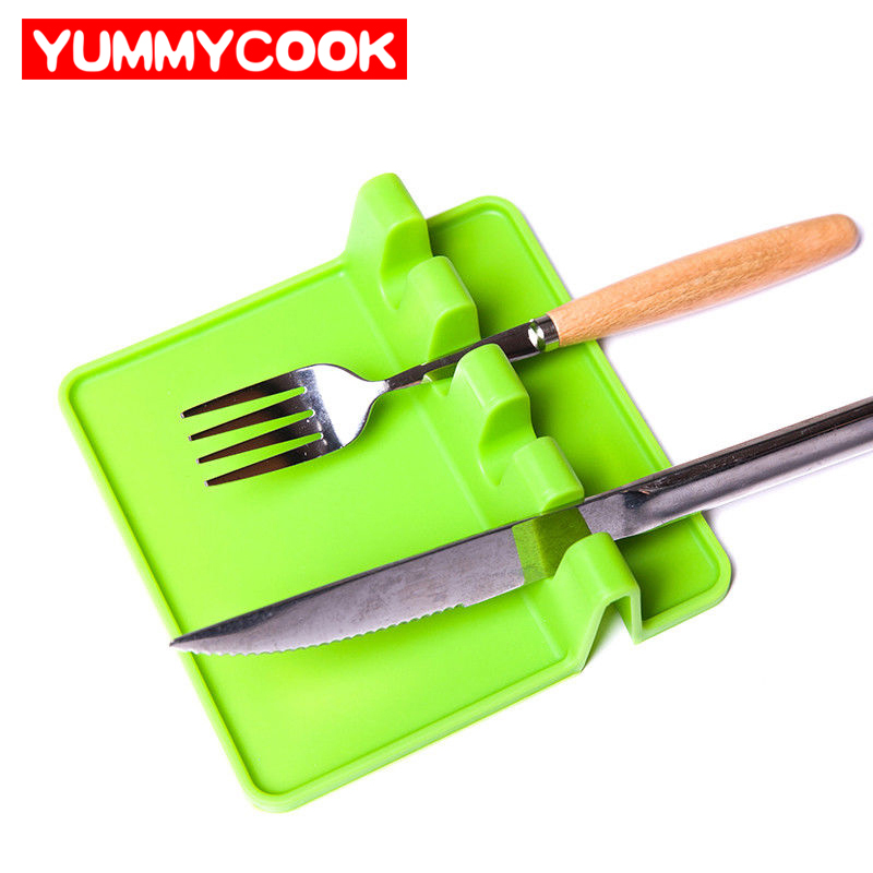 Silikon Messer Stehen Löffel Halter Ruht Topf Clips Küche Gadgets ...