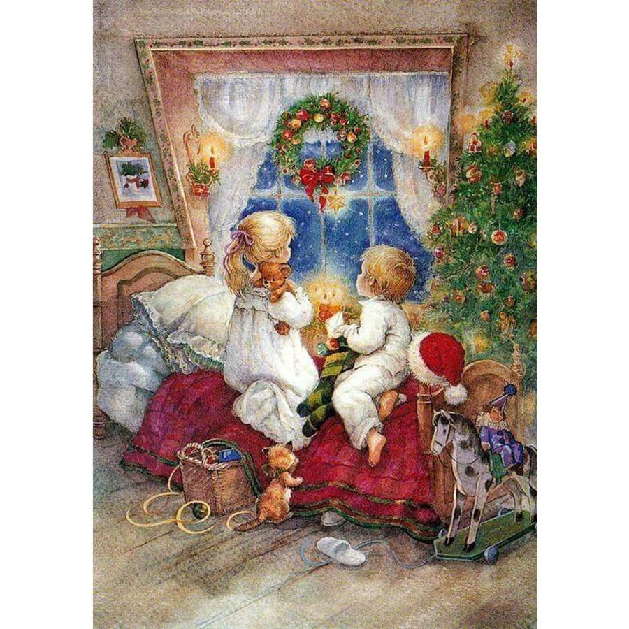 Можно, рождественские детские открытки