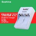 Original soshine inteligente 9 v carregador de bateria de 9 v 6f22 especial para 9 v bateria sem 9 v 650 mah bateria li-ion recarregável