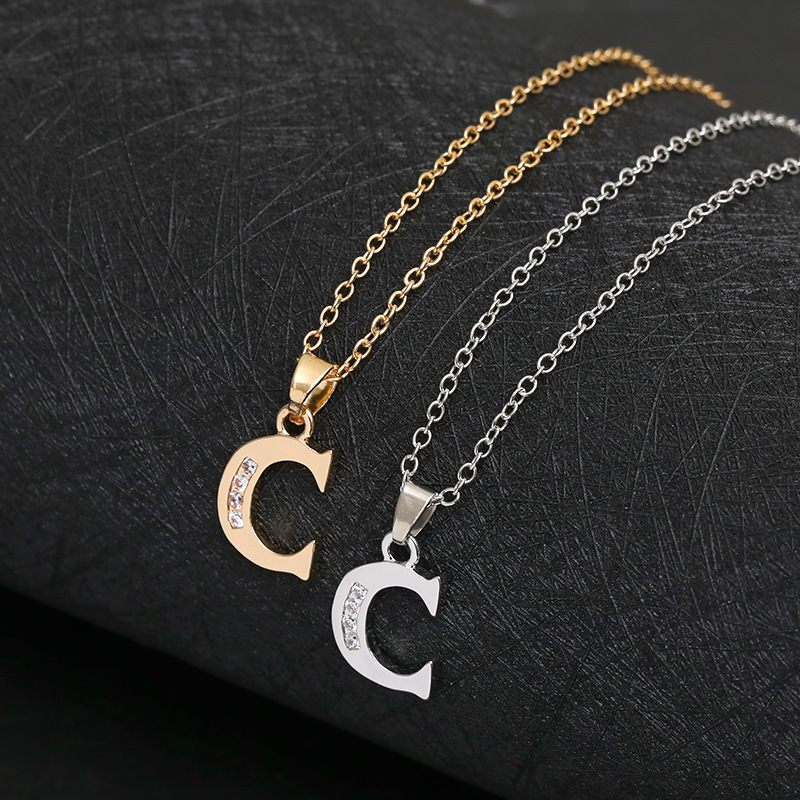 Tiny Swirl Initial Alphabet Letter Necklace 26 English all A Z Cursive Luxury Monogram Name Letters Word Chain Necklaces in Pendant Necklaces from Jewelry Accessories