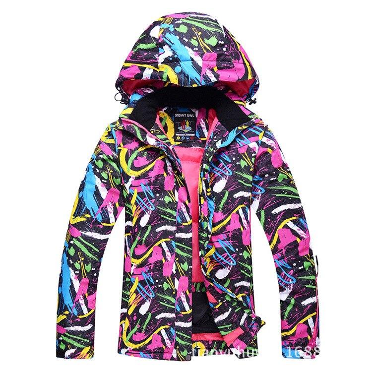 Jaquetas de esqui dos homens impresso impermeável