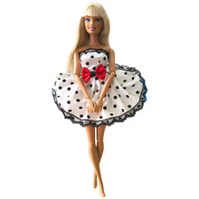 NK 2019 One Set Outfit Handmade Fashion Short Dress For Barbie Doll Dress Baby Girl Birthday new year Best Present for kids 049B