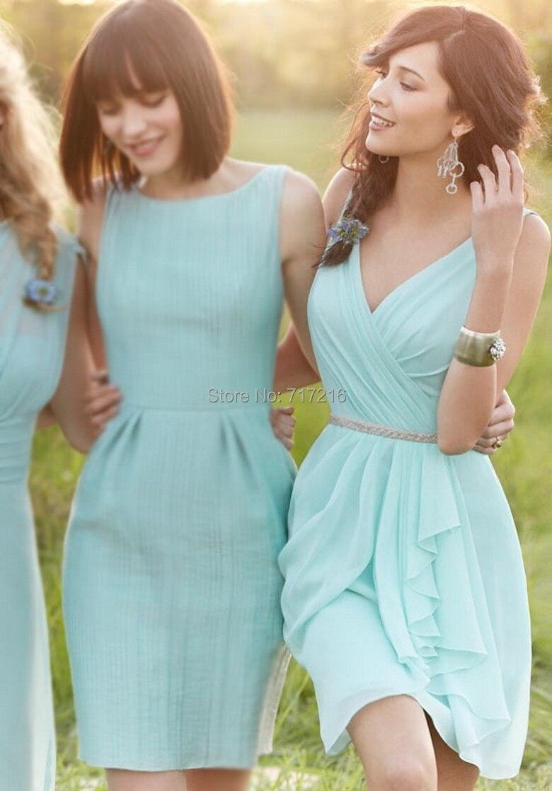 Free shipping mini bridesmaid dresses! Classic scoop sleeveless mini ...