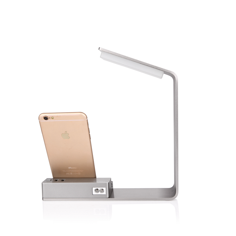 Seenda 2-USB Desktop Phone Charger Stand LED Lamp 3.5W Intelligent Voltage Identification Charger Adapter for iPhone Smartphone