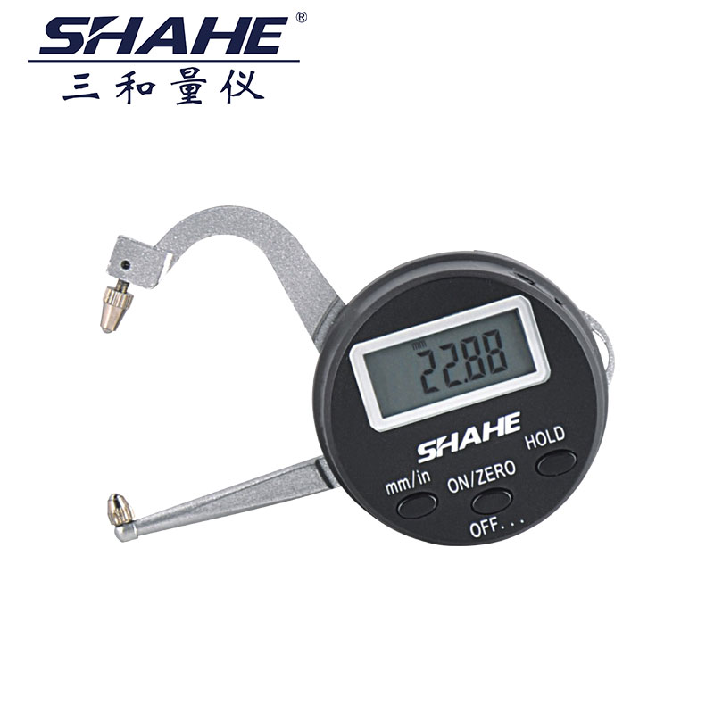 SHAHE High Accuracy 0.05mm Electronic Digital Portable Thickness gauge Digital caliper gauge Measurement for Thickness 0-25mm