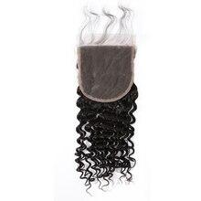 Instaone Hair 5X5 кружевной заказ с сеткой Бразильские глубокие синтетические волосы волнистые с детскими волосами отбеленные узлы девственные человеческие волосы