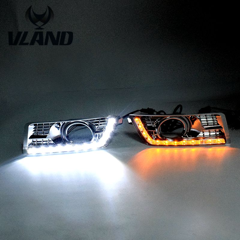 Free shipping for Day light for Cadillac SRX Daytime Running Light LED DRL White and Yellow and Blue color
