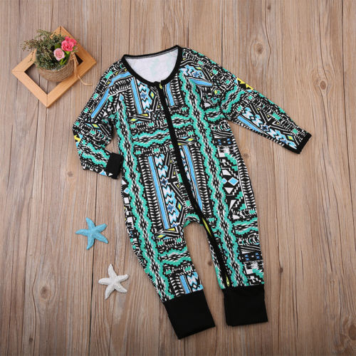 Newborn Toddler Baby Girls Boy Playsuit Romper Outfit Set Clothes