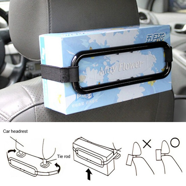 Car Sun Visor Tissue Paper Box Holder Automobile Car Organizer Auto Seat Back Storage Accessories Clip Bracket for Tissue Box