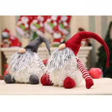 Christmas Santa Claus Decoration Handmade Swedish Plush Xmas Funny Plush Christmas Kids Gift