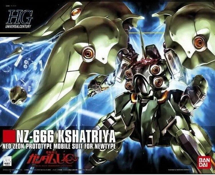 Original Gundam HG 1/144 Model NZ-666 KSHATRIYA UNICORN GUNDAM Mobile Suit Kids Toys With Holder