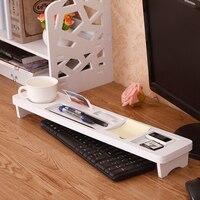 Creative Wooden Shelf Desktop Office Supplies Storage Rack Function Computer Keyboard Rack Desk Organizer