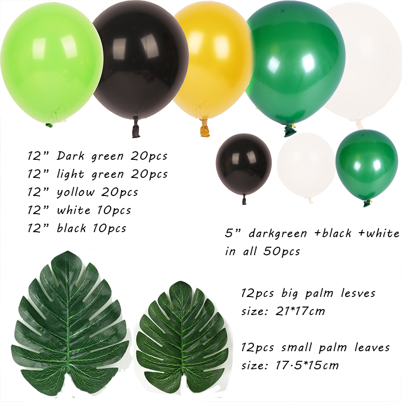 159 piezas de la selva Safari fiesta arco de globos de la