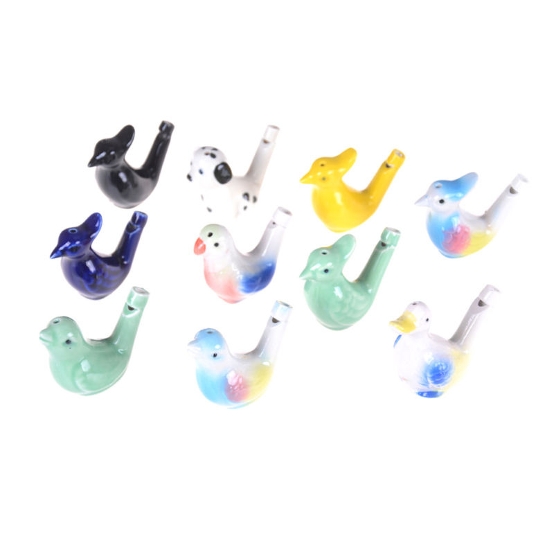 Ceramic Bird Whistle Cardinal Vintage Style Water Warbler Novelty Child Boys Girls Toys