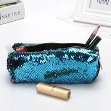 Bling Sequin Makeup Storage Bag Patchwork Mermaid Color Pencil case Bag PU Storage  Pouch Small Sequins ee56713d9894