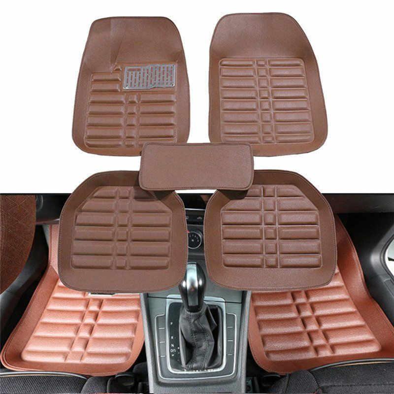 5 Pcs האוניברסלי רכב אוטומטי רצפת מחצלות רצפת אניה מול & אחורי שטיח כל מזג אוויר מחצלת