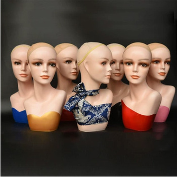 Best Quality Fashionable PVC Head Manekin Display Head Mannequin For Sale