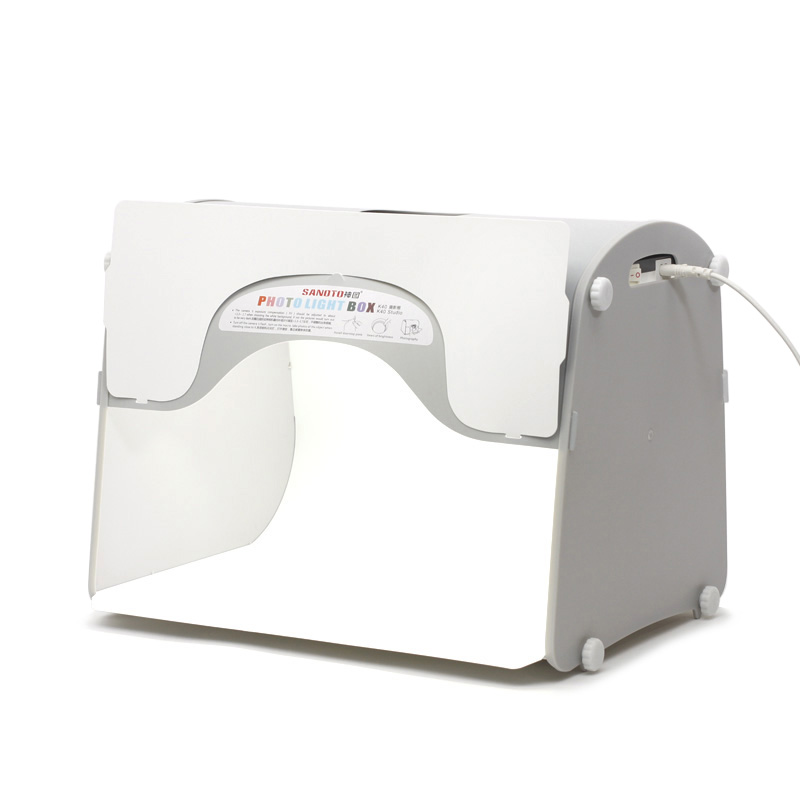 LED studio photo professionnel Portable Mini Kit Photo photographie Studio boîte à lumière SANOTO Softbox k40 pour 220/110 V EU US UK AU