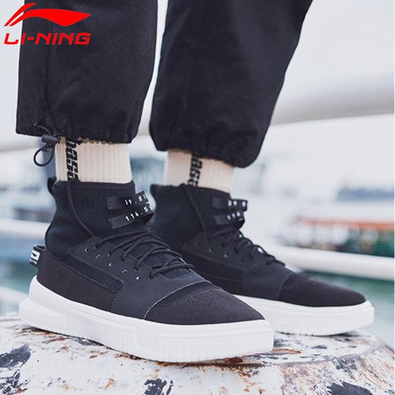 Li Ning Men CALLOUT Bad Five Basketball Culture Shoes High Cut Mono Yarn LiNing Sport Shoes