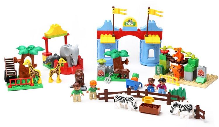 Aliexpress Buy 92 Pcs Happy Zoo Building Blocks Big