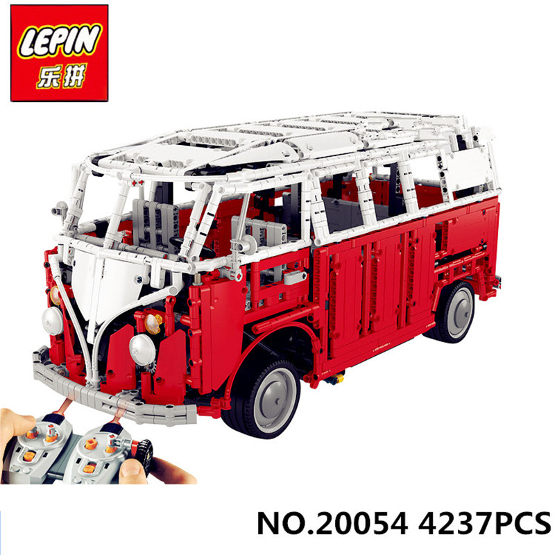 Lepin 20054 4237Pcs The MOC Technic Series The Remote Control T1 Classic Volkswagen Camper Set 10220 Building Blocks Bricks Toys тестовые щупы с led индикацией jtc 4237