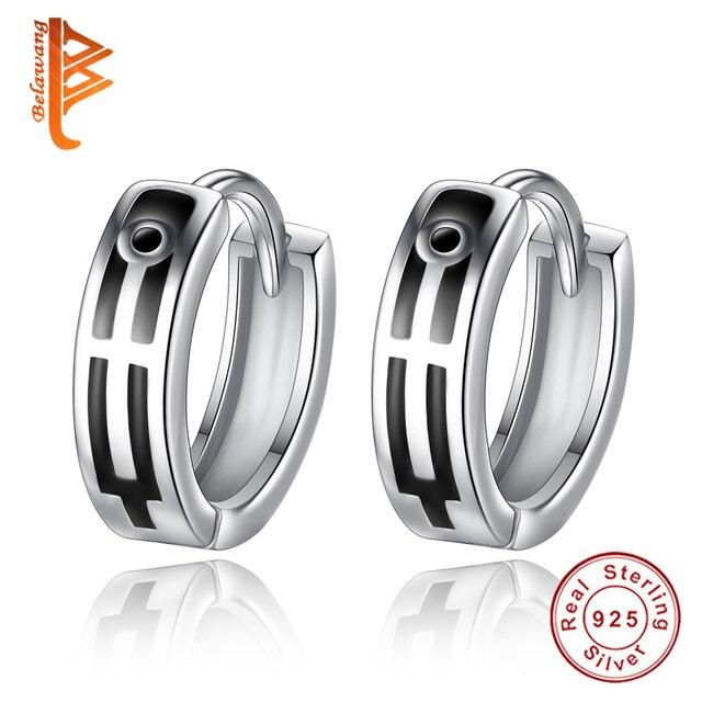 zilveren mannen oorbellen
