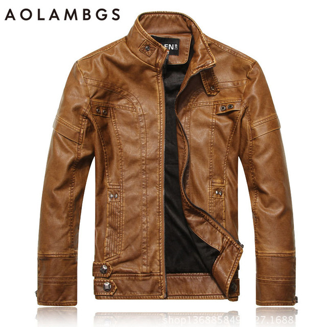 PU Leather Jacket Men 2016 Fall Winter Fashion Faux Fur Bomber Motercycle Biker Jacket High Quality Plus Velvet Casual Outwear
