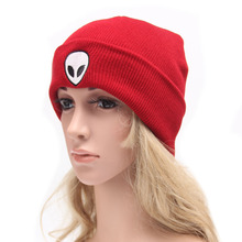 New Fashion Beanies for Women Cute Candy Color Hats Alien Design Knitting Caps Winter Wool Hat Luxury Brand Mens Warm Gorras