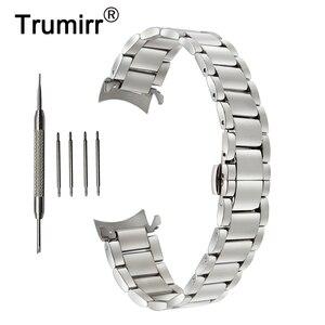 Image 1 - 18mm 20mm 22mm Stainless Steel Watchband for Casio BEM 302 307 501 506 517 EF MTP Series Curved End Strap Belt Wrist Bracelet