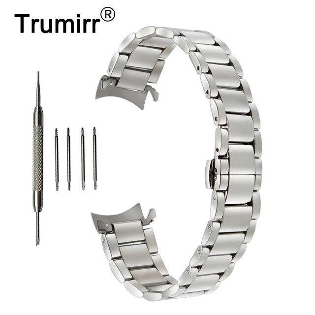 18mm 20mm 22mm Stainless Steel Watchband for Casio BEM 302 307 501 506 517 EF MTP Series Curved End Strap Belt Wrist Bracelet