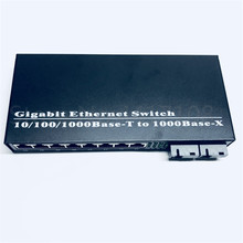8UTP&2SC 10/100/1000M Gigabit Ethernet switch Ethernet Fiber Optical Media Converter Single Mode 8*RJ45 UTP and 2*SC fiber Port(China)