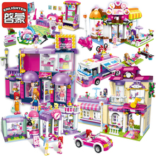 Enlighten Girls Educational Building Blocks Toy For Children Christmas Gifts City Friends Car Fashion Moana Compatible Legoes 734pcs enlighten town girls educational building blocks toys for children kids gifts city friends beauty center house pop stars