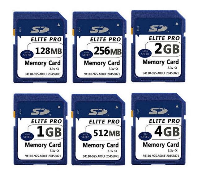 10 pcs/pcs cartão sd original 128 mb 256 mb 512 mb 1 gb 2 gb cartão de memória sd seguro cartão de memória flash digital