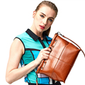 2017 Women Genuine Leather Luxury Design Handbags Messenger Bags Tote Purses Shoulder Ladies Vintage Square Simple Clutch Bag
