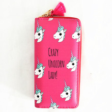 M059 Cartoon Women Wallet Cute Small Fresh Leather Long Wallet Students Wallet Fruit, Bird Restoring Ancient Ways Quality Fabric