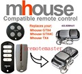 MHouse GTX4, GTX4C,TX4 universal replacement remote control high quality
