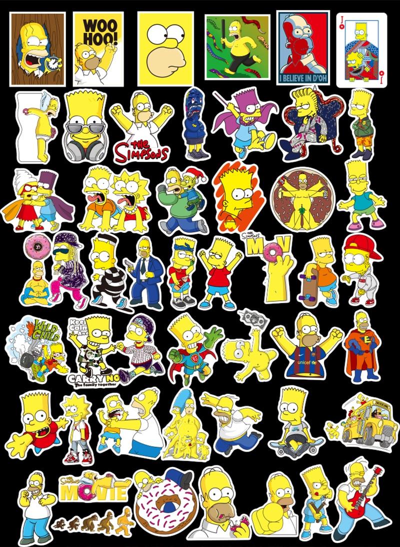 The Simpsons Sticker 50pcs 4