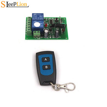 цена на Sleeplion 12V 10A 2CH Channel RF Wireless System Remote Control Switch 2 Transmitter+Receiver ON/OFF 12V Module PCB Board