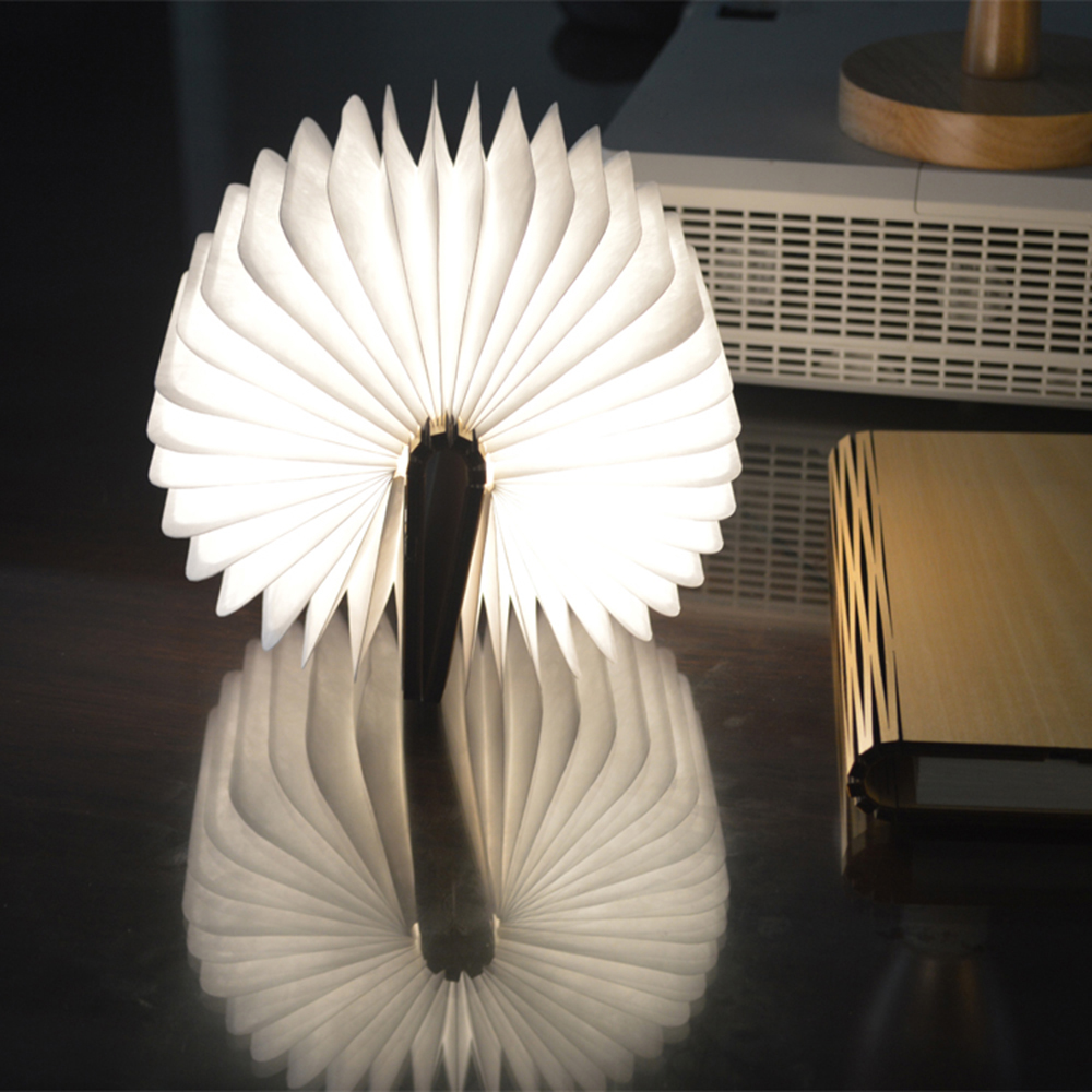 Tomshine LED Folding Light Mini Book Shape Night Lamp USB Rechargeable Portable Desk Bedside Lamp Home Decoration