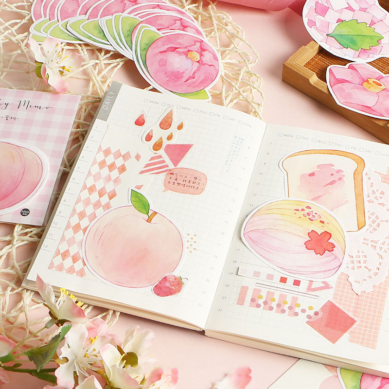 30Sheets Kawaii Peach Memo Pads Animals Sticky Notes Creative Apple Notepads For Kids Gifts School Office Supplies Stationery
