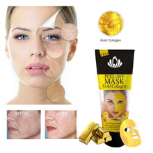 Blackhead Remover Face Mask Nose Repair Deep Cleaning Skin Care Peel Off Masks Purifying 24K Gold Collagen Beauty Series Makeup(China)