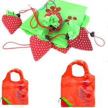 CONEED 2018 Strawberry Folding Shopping Bag New Simple Strawberry Fruit Green Folding Convenience Shopping Bag Oc11 40(China)