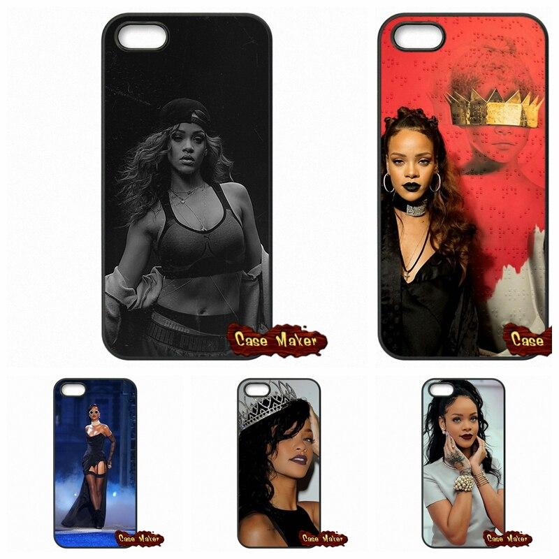 For iPhone SE 4 4S 5S 5 5C 6 6S Plus Samsung Galaxy S2 S3 S4 S5 MINI S6 S7 Edge Note 4 5 Custom Sexy Pop Star Rihanna Case Cover