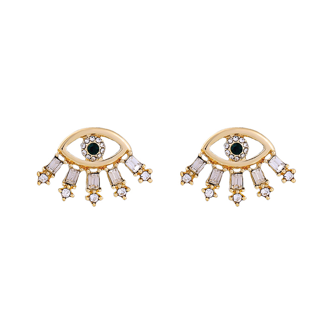 Crystal Eye Earrings Simple...