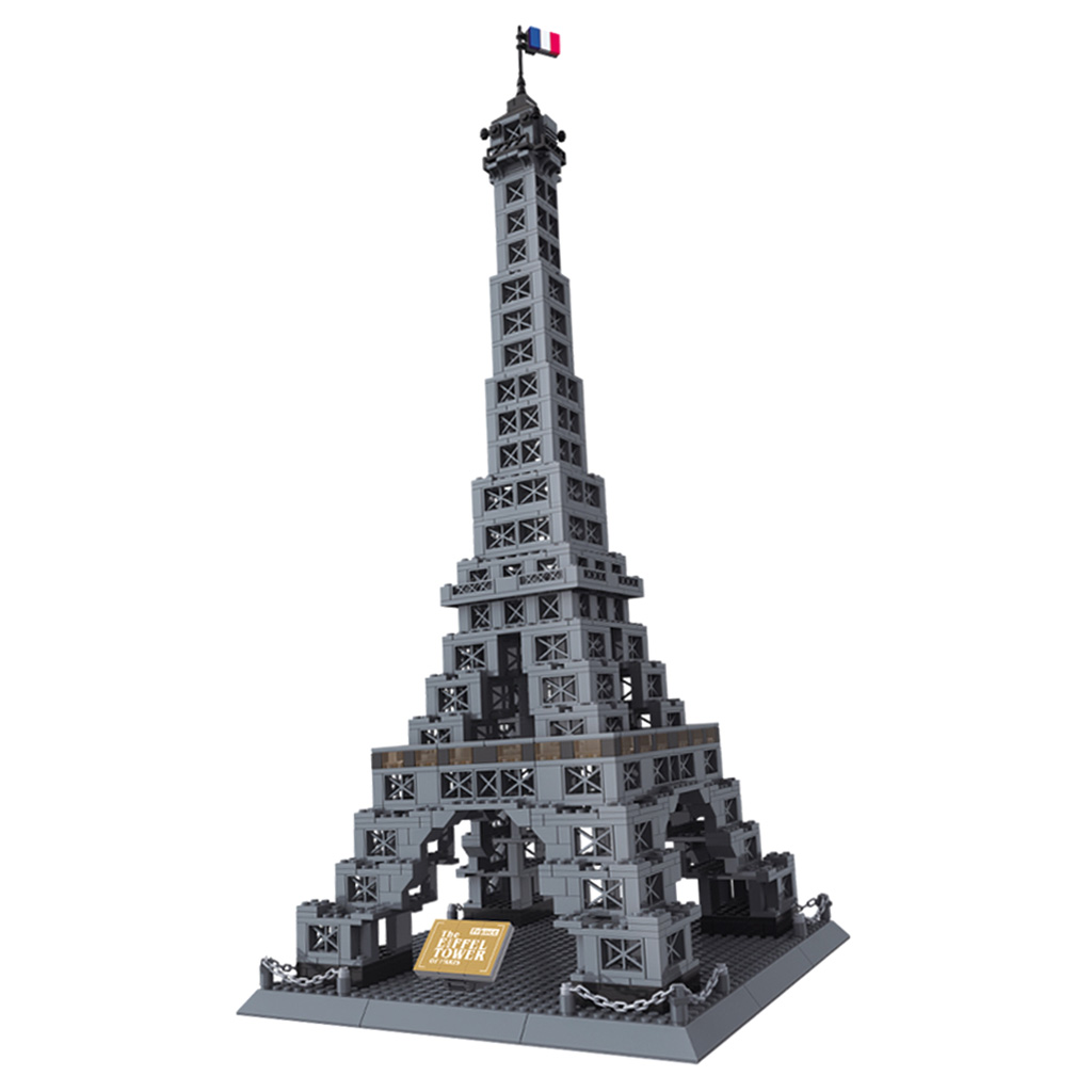 Set of 978pcs Paris Eiffel Tower Building Blocks Kits Intelligence Puzzle Game Kid Educational Toy three s company ru bun lock children puzzle toy building blocks