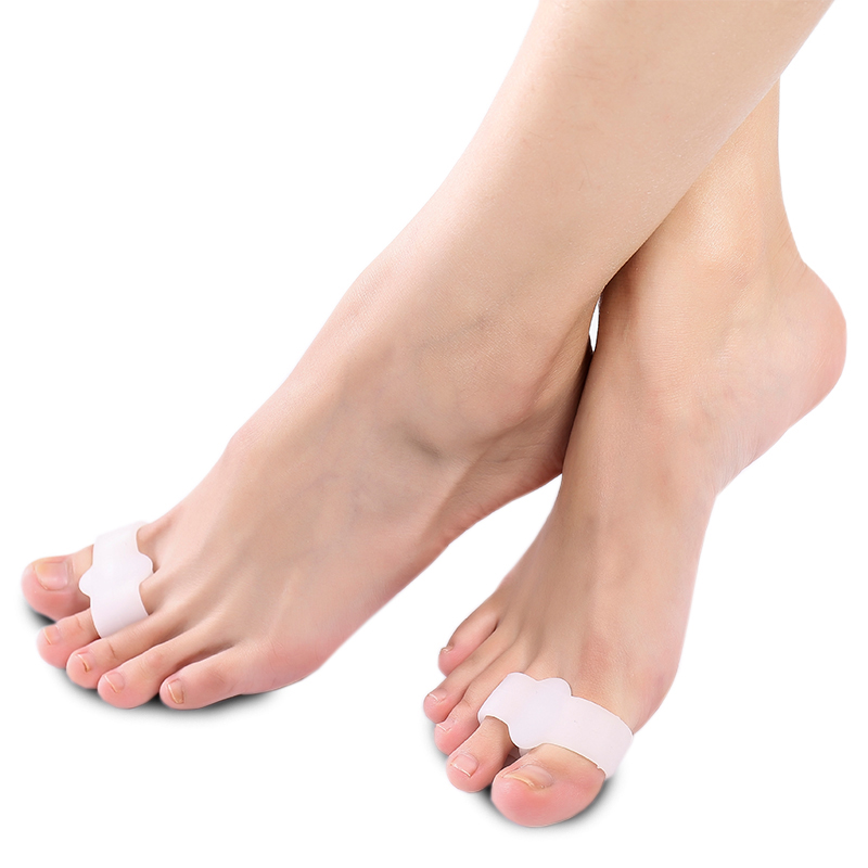 1 Pair Feet Care Pedicure Device Toe Separators Finger Hallux Valgus Corrector Spreader Toe Separator Daily Use Bunion Adjuster