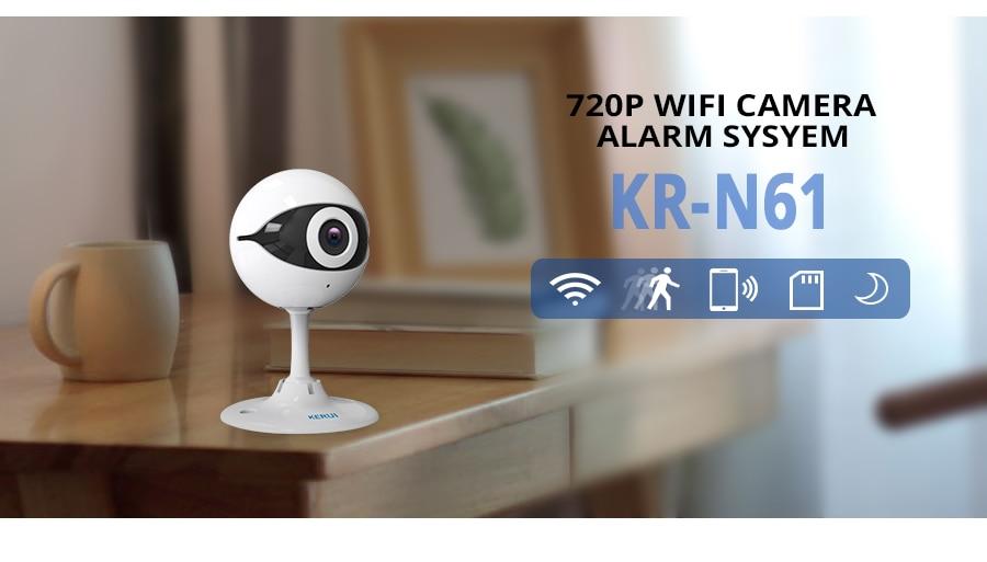 KERUI N61 Wireless Home Security IP Camera Wireless Mini IP Camera Surveillance CCTV Camera Wifi 720P Night Vision Baby Monitor_4