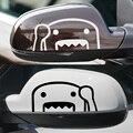 1 par de personalização engraçado domokun jdm espelho retrovisor adesivos decalque do carro-styling para honda toyota nissan mazda acessórios do carro